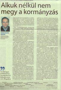 Domonkos Endre cikk Spanyolország
